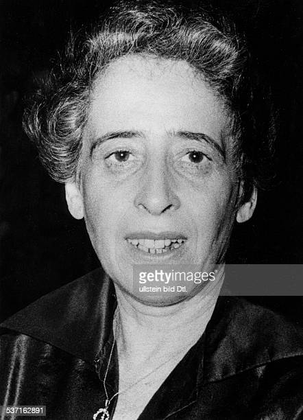 HANNAH ARENDT American philosopher and political scientist Photographed in 1955