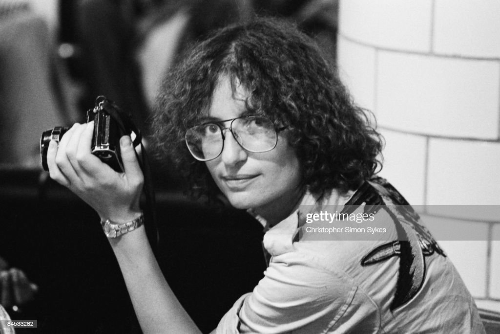 American photographer Annie Leibovitz during the Rolling Stones Tour of the Americas 1975