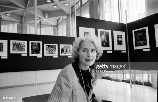 American photographer Margaret BourkeWhite attending an exhibition April 20th 1964