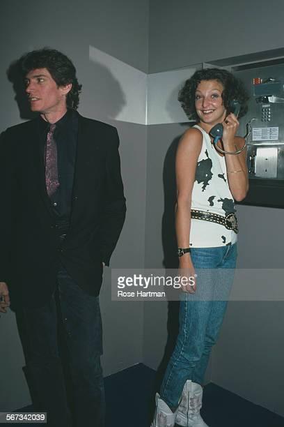 American photographer Robert Mapplethorpe at the Palladium nightclub New York City circa 1984