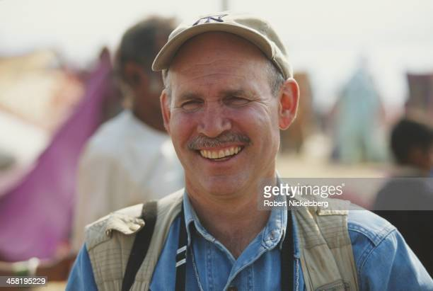 American photojournalist Steve McCurry in India 2001 He is best known for his photograph 'Afghan Girl' from the cover of the June 1985 issue of...