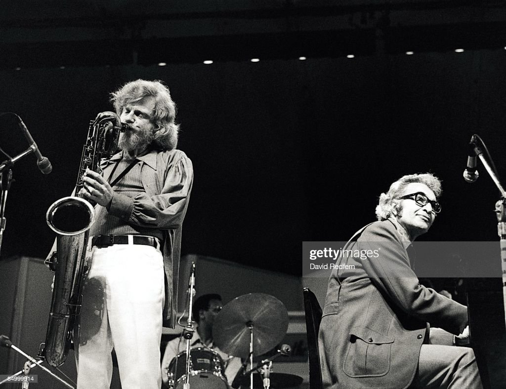 Photo of Dave BRUBECK and Gerry MULLIGAN; with Gerry Mulligan.