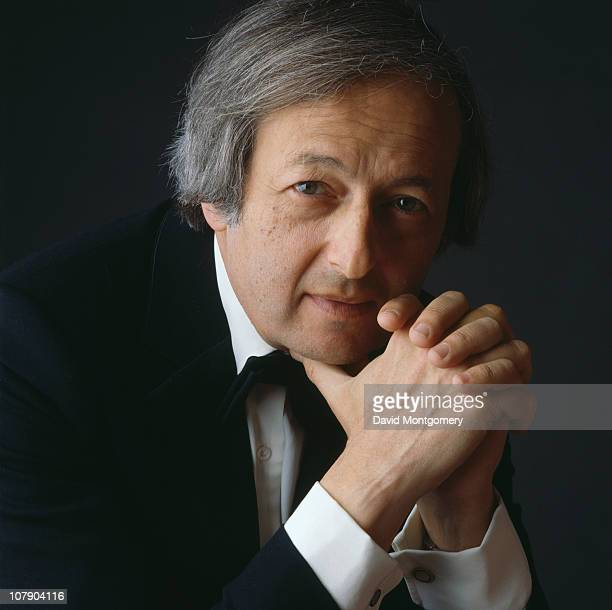 American pianist and conductor Andre Previn 8th April 1986