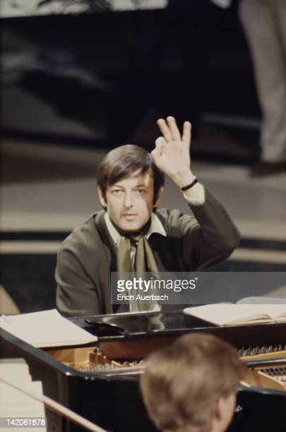 American pianist conductor and composer Andre Previn at the piano circa 1965