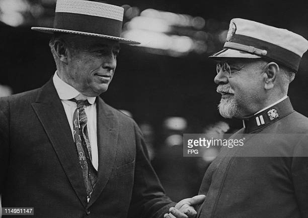 American playwright Augustus Thomas with composer and conductor John Philip Sousa circa 1925 Sousa is best known as the composer of patriotic marches