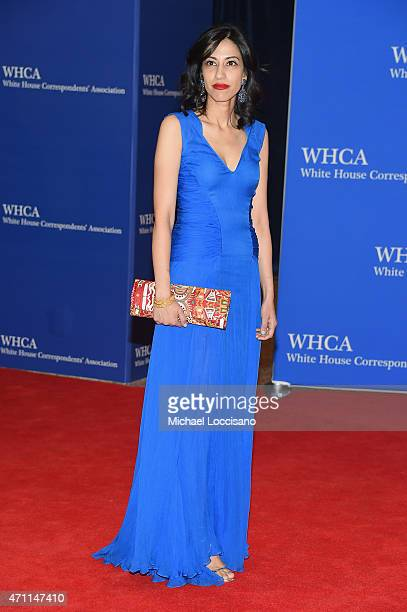American political staffer Huma Abedin attends the 101st Annual White House Correspondents' Association Dinner at the Washington Hilton on April 25...
