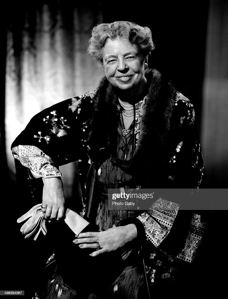 American politician and former First Lady of the United States, <a gi-track='captionPersonalityLinkClicked' href=/galleries/search?phrase=Eleanor+Roosevelt&family=editorial&specificpeople=93348 ng-click='$event.stopPropagation()'>Eleanor Roosevelt</a> (1884 - 1962), Montreal, 1955.