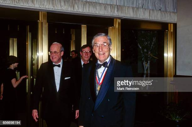 American politician and US Secretary of the Treasury Lloyd Bentsen arrives at the Capitol Hilton Hotel for the annual Alfalfa Club dinner Washington...