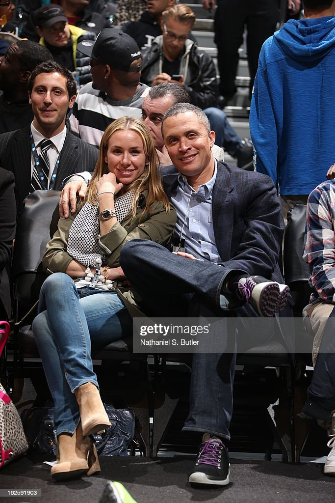 American politician <a gi-track='captionPersonalityLinkClicked' href=/galleries/search?phrase=Harold+Ford+Jr.&family=editorial&specificpeople=3986294 ng-click='$event.stopPropagation()'>Harold Ford Jr.</a> smiles during a Brooklyn Nets game on February 24, 2013 at the Barclays Center in the Brooklyn borough of New York City.