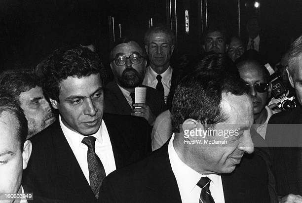 American politician Lieutenant Governor of New York Mario Cuomo attends an unspecified event during his ultimately successful gubernatorial campaign...