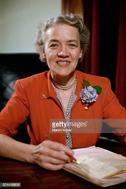 Portrait of Maine Senator Margaret Chase Smith Smith was the first woman elected to both houses of Congress