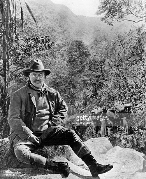 American politician Theodore Roosevelt on a hunting tour in Central Africa He served as the 26th President of the United States of America from 1901...