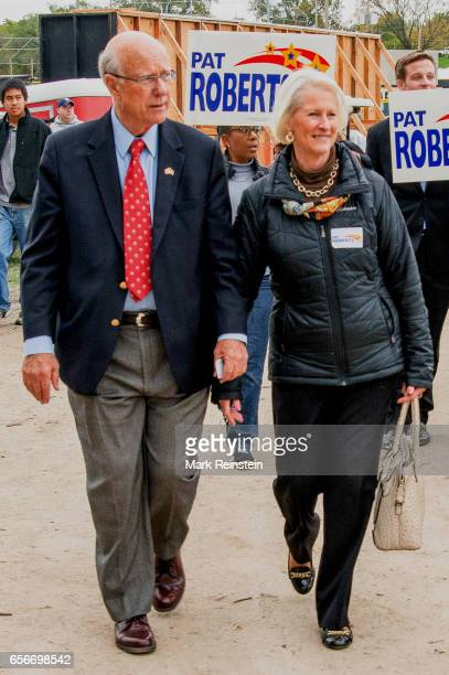 American politician US Senator Pat Roberts and his wife Franki Roberts attend the Turner Community Day festival at Steineger Field Kansas City Kansas...