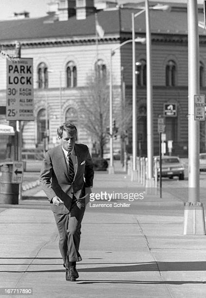 American politician US Senator Robert F Kennedy campaigns for the Presidency Los Angeles California 1968