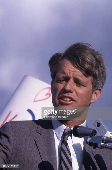 American politician US Senator Robert F Kennedy campaigns for the Presidency Los Angeles California 1968