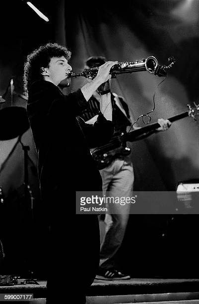 American Pop and Jazz musician Kenny G plays saxophone on an episode of the Oprah Winfrey Show Chicago Illinois November 1 1986