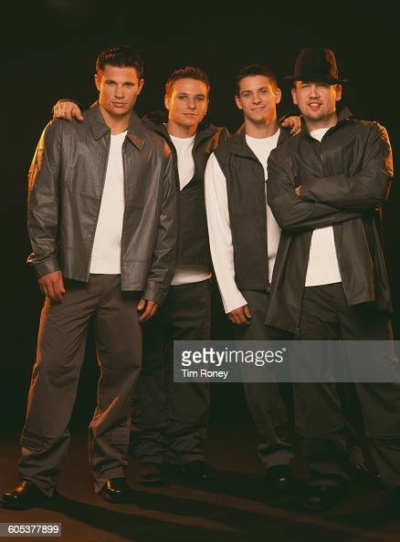 American pop and RB boy band 98 Degrees circa 1995 From left to right they are brothers Nick and Drew Lachey with Jeff Timmons and Justin Jeffre