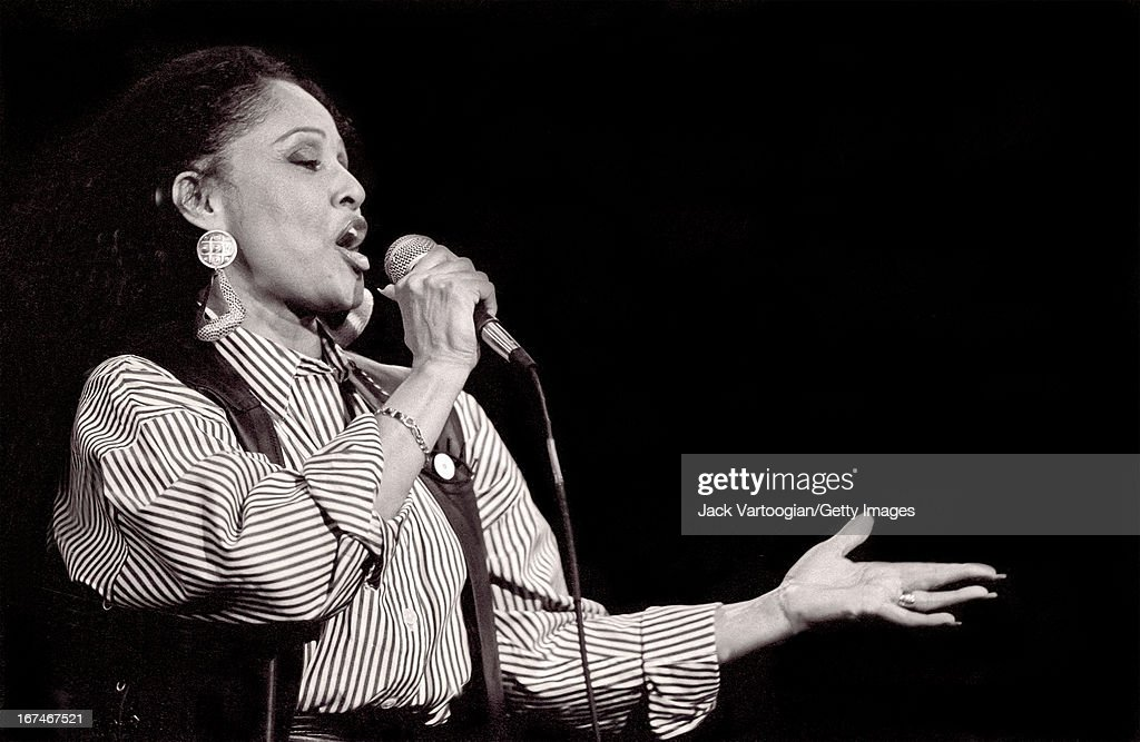 American pop and rhythm & blues singer <a gi-track='captionPersonalityLinkClicked' href=/galleries/search?phrase=Darlene+Love&family=editorial&specificpeople=220743 ng-click='$event.stopPropagation()'>Darlene Love</a> (born Darlene Wright) performs at the Bottom Line nightclub, New York, New York, January 14, 1990.