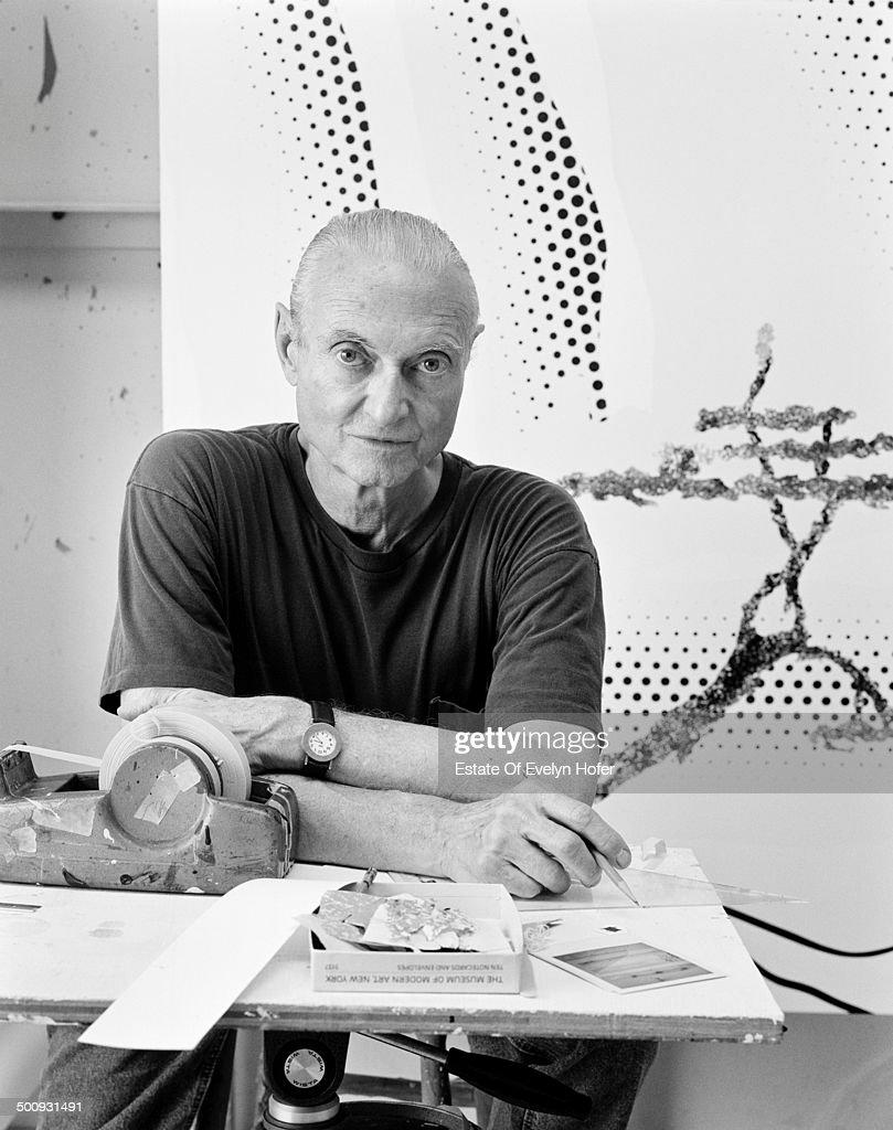 American pop artist Roy Lichtenstein (1923 - 1997), New York, 1996.