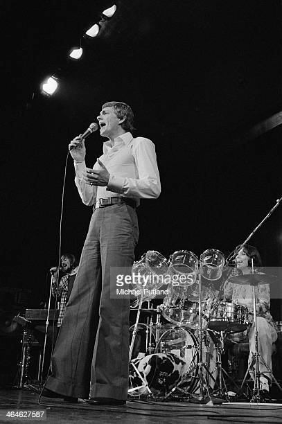American pop duo The Carpenters Richard Carpenter and his sister Karen performing on a European tour February 1974