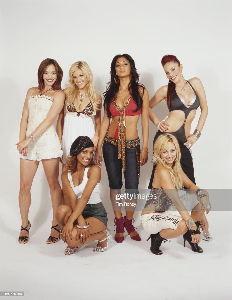 American pop girl group, The Pussycat Dolls, circa 2003. They are Kimberly Wyatt, J Sutta, Nicole Scherzinger, Ashley Roberts, Carmit Bachar and Melody Thornton.