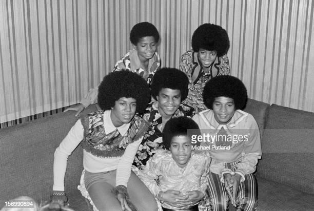 American pop group The Jackson 5 consisting of brothers Jackie Tito Jermaine Marlon Michael and Randy Jackson London November 1972