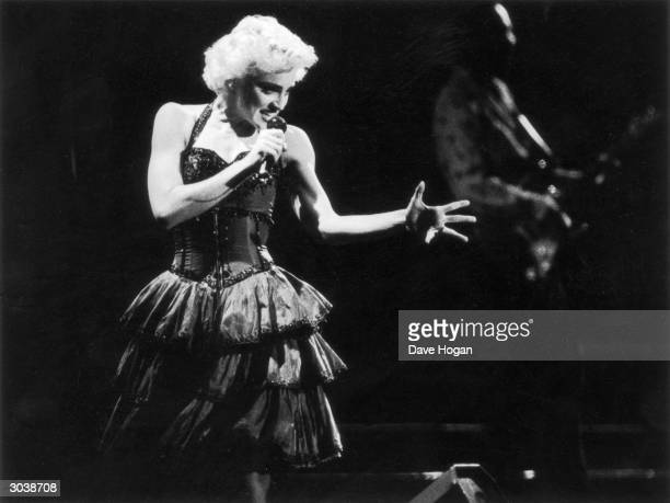 American pop icon Madonna in concert 1987