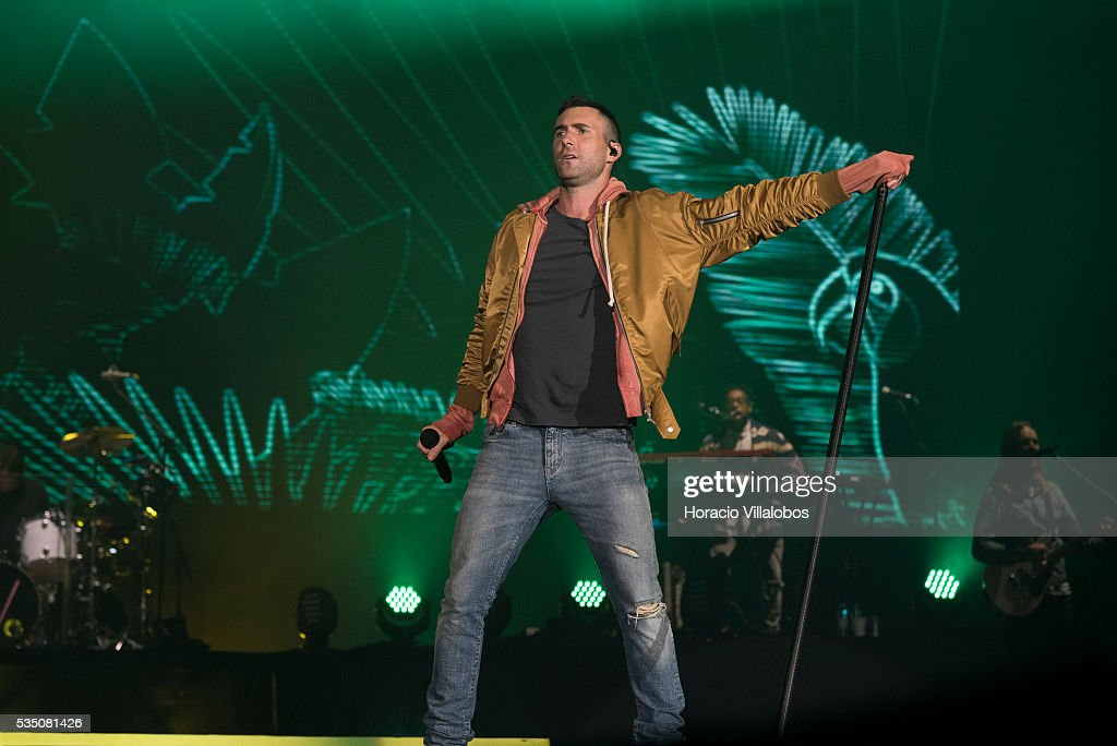 American pop rock band Maroon 5 performs on the fourth day of Rock in Rio Lisbon on May 28, 2016 in Lisbon, Portugal..