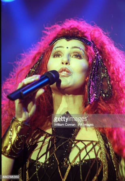 American pop singer Cher performs on stage at London's Wembley Arena as part of her UK tour * 31/08/01 American pop singer Cher will go to court next...