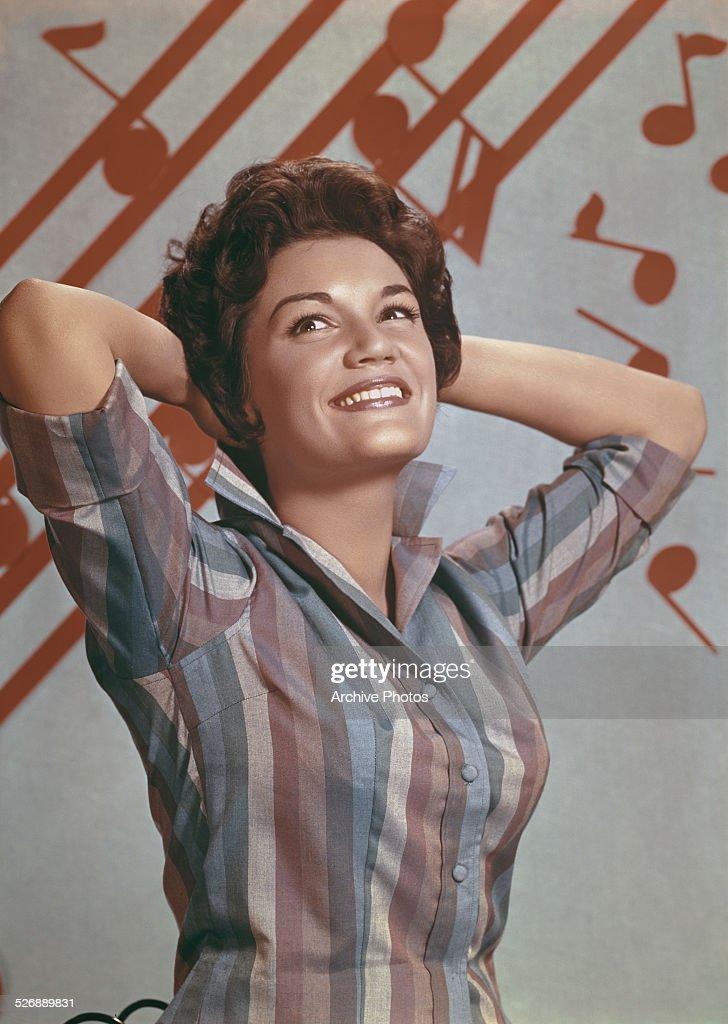 American pop singer Connie Francis, circa 1960.