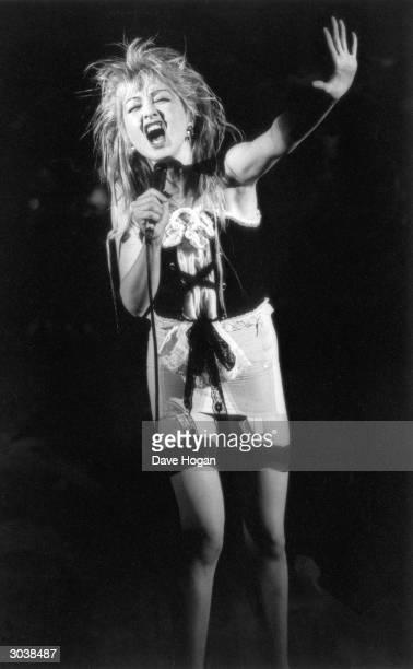 American pop singer Cyndi Lauper circa 1985