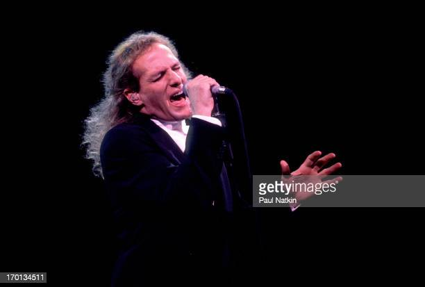 American pop singer Michael Bolton performs on stage Chicago Illinois December 11 1991