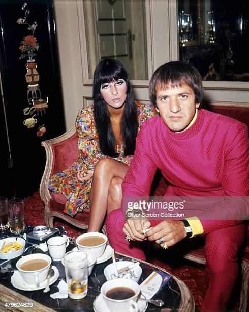 American pop singing duo Sonny Cher circa 1968 They are Cher and Sonny Bono