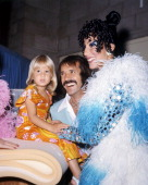 American pop singing duo Sonny Cher with their daughter Chastity circa 1973 Left to right Chastity Bono Sonny Bono and Cher