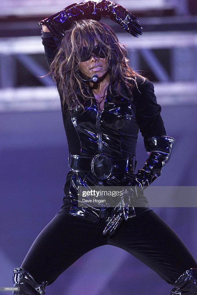 American pop star Janet Jackson performs on stage during her new 'All For You' World Tour on July 26, 2001 in Chicago, United States.