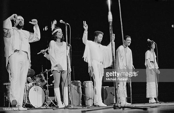 American pop vocal group The 5th Dimension performing at the Royal Albert Hall London 28th January 1972 Left to right Ron Townson Florence LaRue...