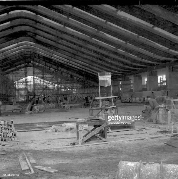 American postWWII ERP is financing the reconstruction of the Termini main train station in Rome 19481949
