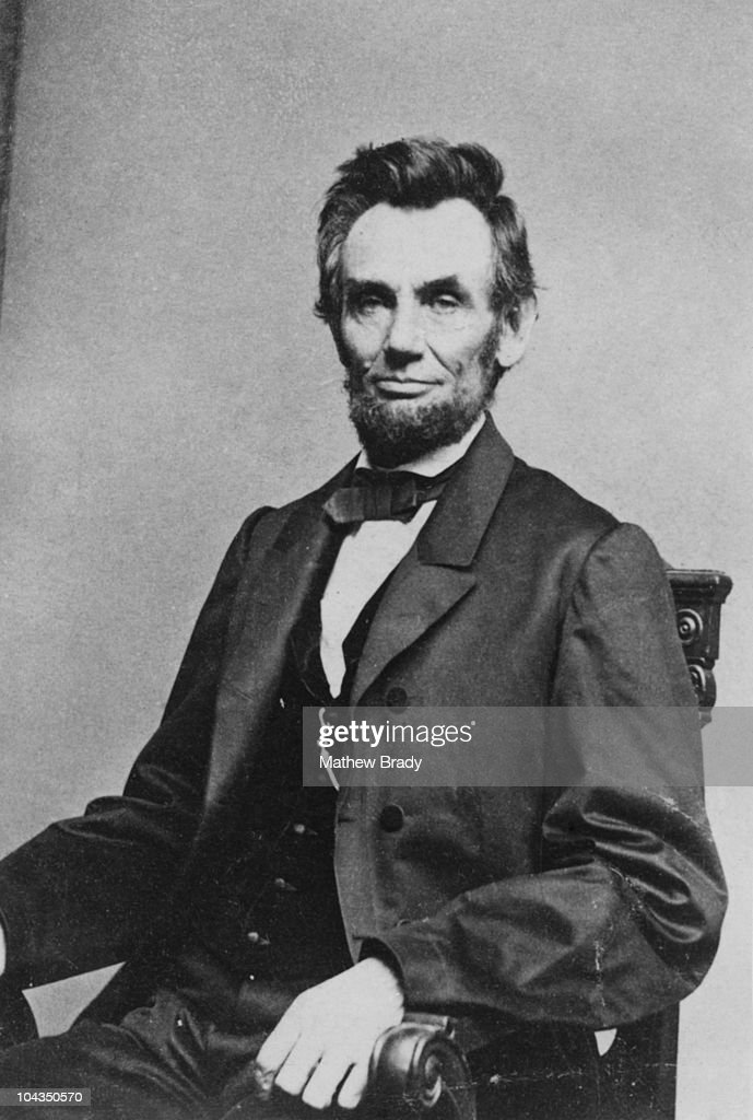 American President Abraham Lincoln (1809 - 1865), circa 8th January 1864.