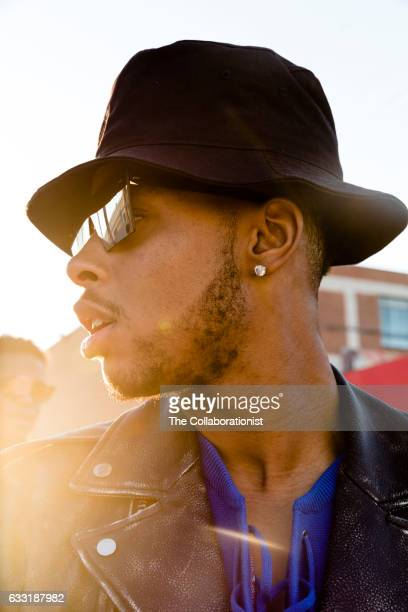 American professional basketball player for the Los Angeles Lakers D'Angelo Russell is photographed for Bleacher Report on September 15 2016 in Los...