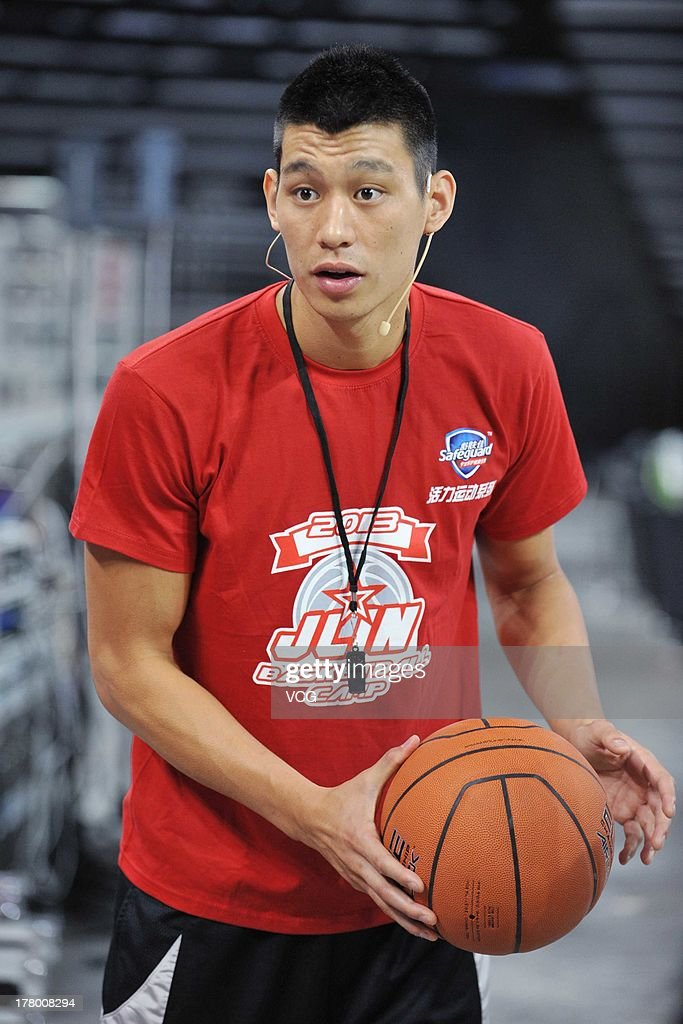 American Professional Basketball Player Jeremy Lin Of The Houston Rockets  Attends A Basketball Training Camp At