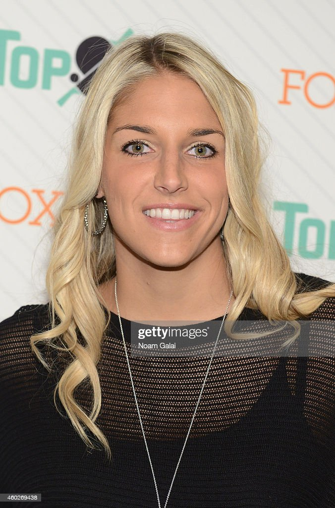 American professional basketball player with the Chicago Sky <a gi-track='captionPersonalityLinkClicked' href=/galleries/search?phrase=Elena+Delle+Donne&family=editorial&specificpeople=5042380 ng-click='$event.stopPropagation()'>Elena Delle Donne</a> attends the 6th annual New York City TopSpin Charity event at Metropolitan Pavilion on December 10, 2014 in New York City.