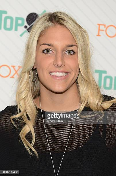 American professional basketball player with the Chicago Sky Elena Delle Donne attends the 6th annual New York City TopSpin Charity event at...