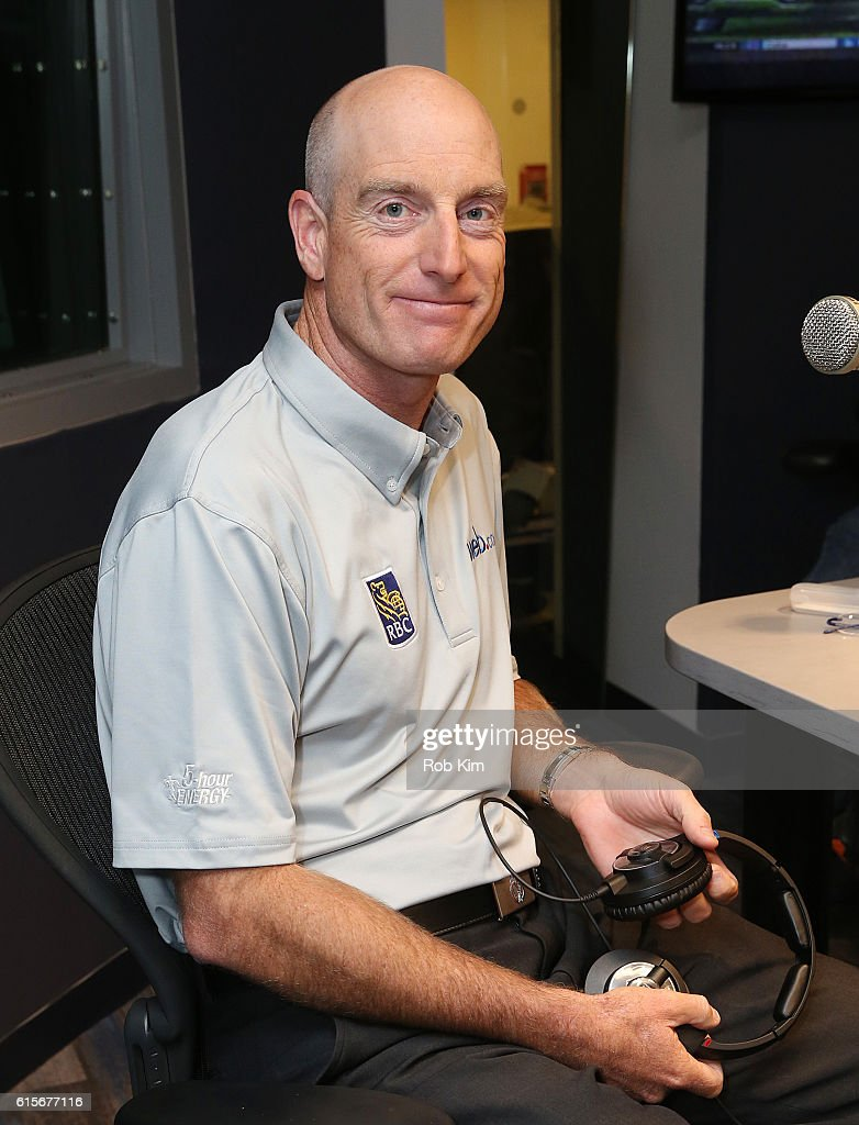 American professional golfer Jim Furyk visits at SiriusXM Studio on October 19, 2016 in New York City.