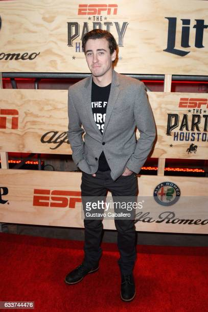 American professional stock car racing driver Ryan Blaney attends the 13th Annual ESPN The Party on February 3 2017 in Houston Texas
