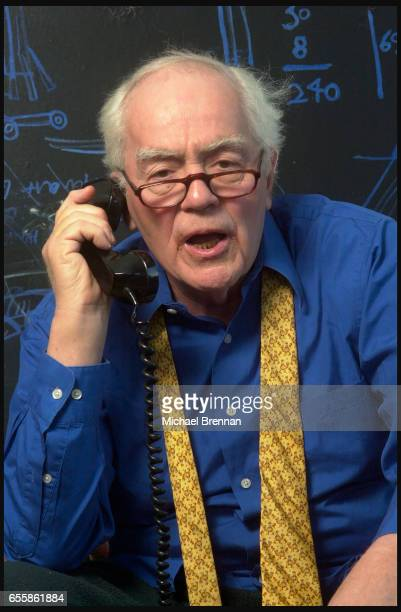 American Pulitzer Prize winning writer Jimmy Breslin at home in Manhattan New York NY