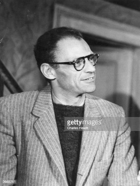American Pulitzer Prizewinning playwright Arthur Miller his works include 'Death Of A Salesman' and 'The Crucible' Original Publication Picture Post...