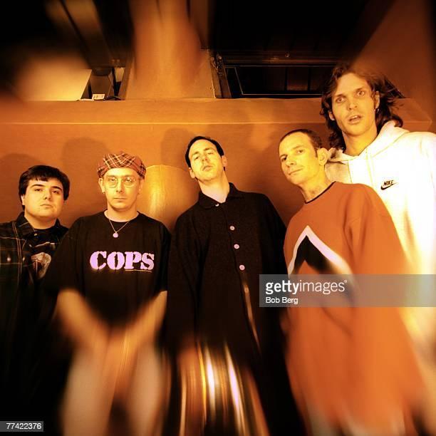 American punk rock band Bad Religion drummer Bobby Schayer guitarist Brian Baker lead vocalist Greg Graffin guitarist Gregg Hetson and bassist Jay...