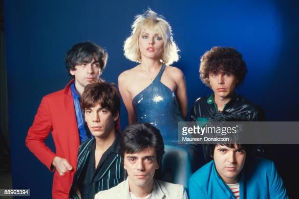 American punk rock band Blondie 1979 Clockwise from top left guitarist Chris Stein singer Debbie Harry bass player Nigel Harrison drummer Clem Burke...