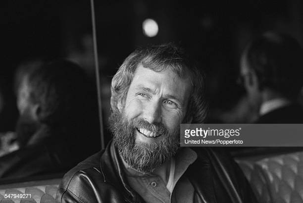 American puppeteer and creator of The Muppet Show Jim Henson pictured at a press event to promote the film 'The Dark Crystal' in London on 16th...