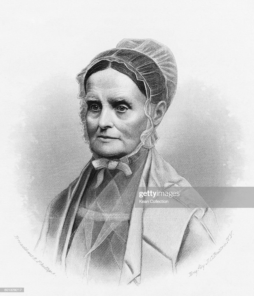 American Quaker, women's rights activist, abolitionist, and social reformer Lucretia Mott, circa 1770. From an original engraving by J.C. Buttre after a photograph by Broadbent & Phillips.